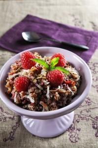 Raspberry Coconut Quinoa